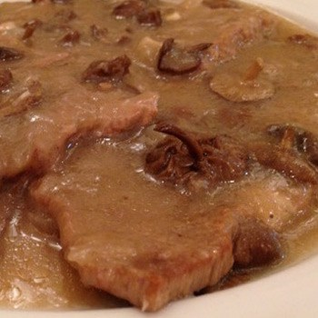 Fricandeau of veal with wild mushrooms